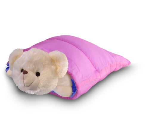 Hello Kitty Tablet Pillow: Pink And Purple Reversible Mini Sleeping Bag