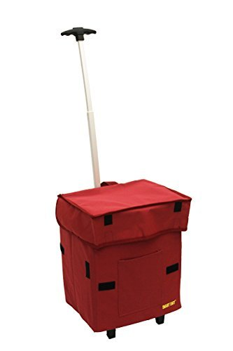 smart-cart-red-rolling-multipurpose-collapsible-basket-cart-scrapbooking-by-dbest-products