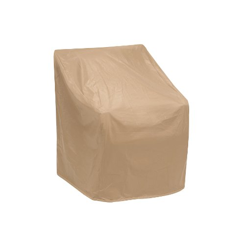 Protective Covers Weatherproof Wicker Chair Cover, Regular, Tan picture