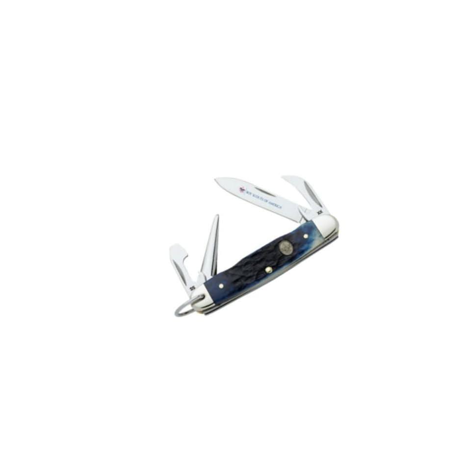 Case Knives 8055 Boy Scouts Jr  Scout Pocket Knife with Blue