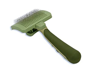 Safari Self-Cleaning Slicker Brush for Cats, Green