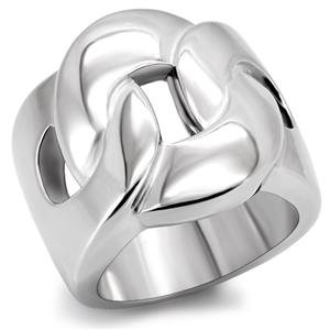 RIGHT HAND RING - Circle Knot Design in High Polished Stainless Steel Ring