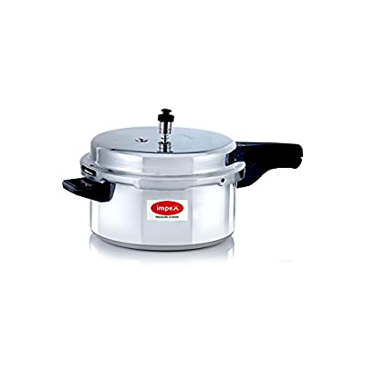IMPEX Induction Base Aluminium Pressure Cooker With Outer Lid- 5 Ltr- IPC 501