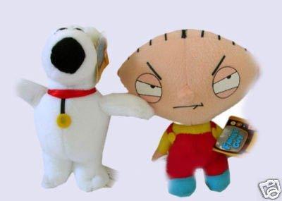 Family Guy Stewie Brian Griffin Dog Plush Doll Toy
