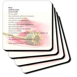 PS Inspirations - Rise and Be Seen - Soulful Poetry by Patricia Sanders - Inspirational - Coasters