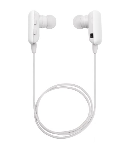Glcon® Mini White Wireless Stereo Bluetooth Bt Headset Headphone Earphone Earpiece Earbud With Noise Cancellation, A2Dp, Microphone Mic, Music Remote Control, For Sports, Running, Gym And Exercise, Great Compatible With Apple Iphone 5/5S/5C, Iphone 4/4S,