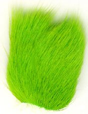 Deer Belly Hair (Dyed) Color: Flo. Chartreuse