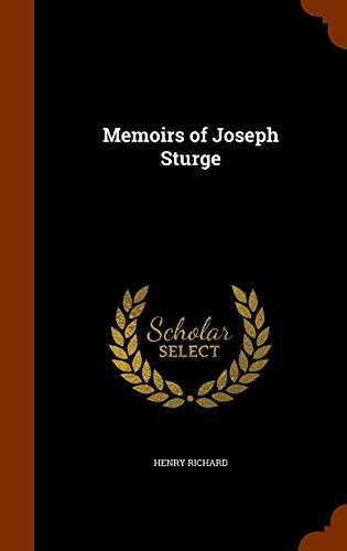 Memoirs of Joseph Sturge