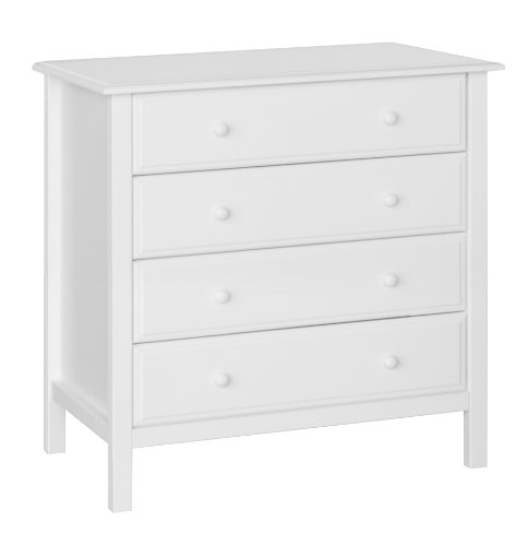 Davinci Jayden 4-Drawer Dresser, White
