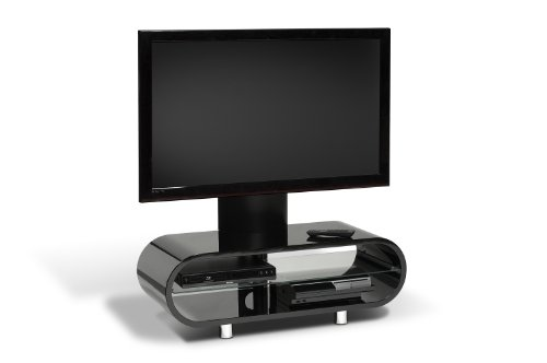 Techlink Ovid OV95TVB Audio Visual Furniture  Black with Intergrated Screen mount