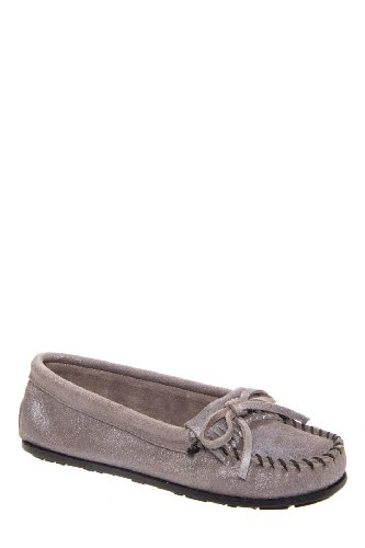 Minnetonka Metallic Moccasin Flat Shoe