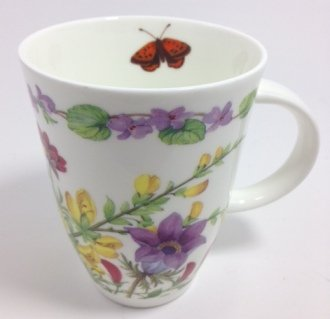 Roy Kirkham Fine Bone China Louise Style Mug Wild Flowers (With Bumblebee)