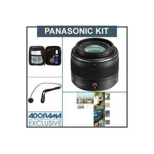Panasonic 25mm f/1.4 Leica DG Summilux Aspherical Lens for Micro 4/3 System - Bundle -