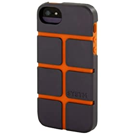 Incase SY10031 Chisel Case for Apple iPhone 5 - 1 Pack - Retail Packaging - Asphalt/Orange