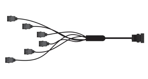 Sensor-1 HJD37WP06 6 Row Planter Harness for John Deere Monitor with 37 Pin Amp Monitor Plug and Weather Pack Connectors