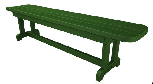 Poly-Wood Park 72-Inch Harvester Backless Bench, Green