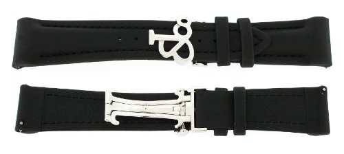 Jacob & Co. Genuine Black Poly Rubber Short Band Strap 22SMM 47MM Watch (Jacob And Co Watch Band compare prices)