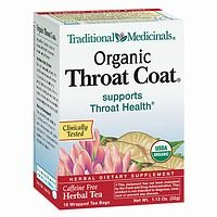 Traditional Medicinals Herbal Teas, Organic Throat Coat, 16 Tea Bags (Pack of 3)
