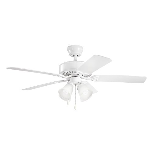 Kichler Lighting 339240WH Renew Premier 50-Inch 4-Light Ceiling Fan, White Finish with White Blades and Light Kit