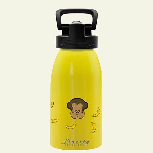 Liberty Bottleworks No Evil Sport Water Bottle, Sunshine, 12-Ounce front-28314