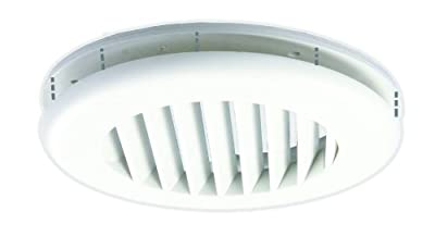 "JR Products CG25PW-A Polar White Snap-On Ceiling Vent with 0.25"" Collar"