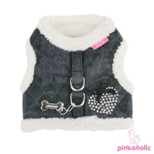 Pinkaholic New York Silky Pinka Harness, Small, Black front-31297