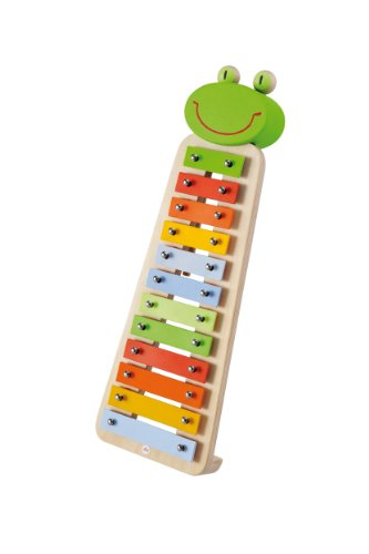 Sevi Frog Xylophone-incl. Musical Booklet with 5 Songs in 5 Languages - 1