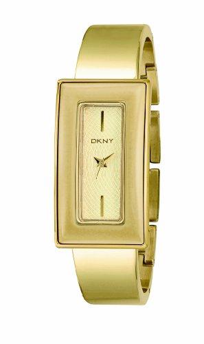 DKNY NY4352 - Reloj para mujeres, correa de acero inoxidable color dorado