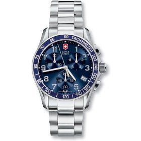 Victorinox Swiss Army Men's 241120 Chrono Classic Blue Dial Watch