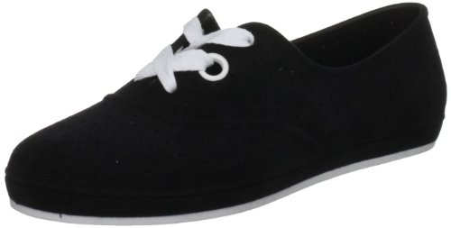 Mel Shoes by Melissa Women's Lime Comfort Lace Ups Black Flock