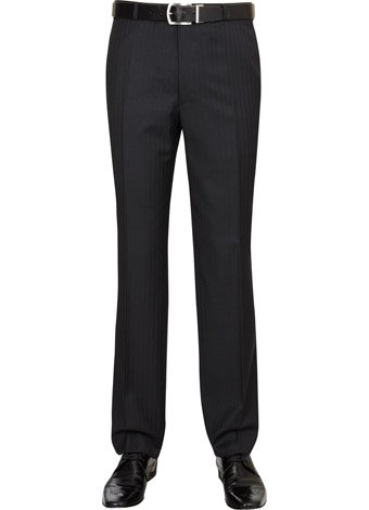 Austin Reed Contemporary Fit Charcoal Trousers SHORT MENS 38