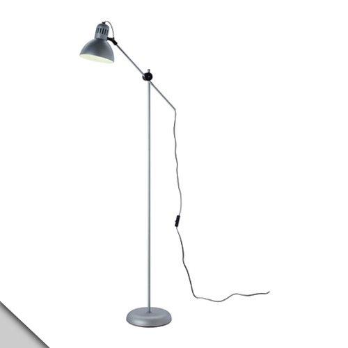 Ikea - Tertial Floor/Reading Lamp, Silver Color + E26 Led Bulb