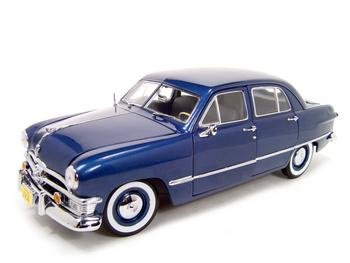 Ford custom 4 door blue 118 precision model buy 1950 for 1950 ford custom 4 door
