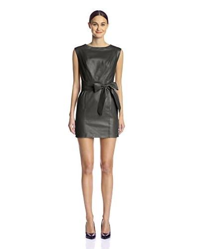 Susana Monaco Women's Blonde Leather Dress