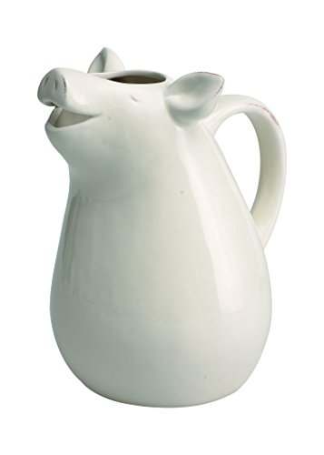 Transpac Dolomite Pig Pitcher, Small, White (Small White Spoon Rest compare prices)