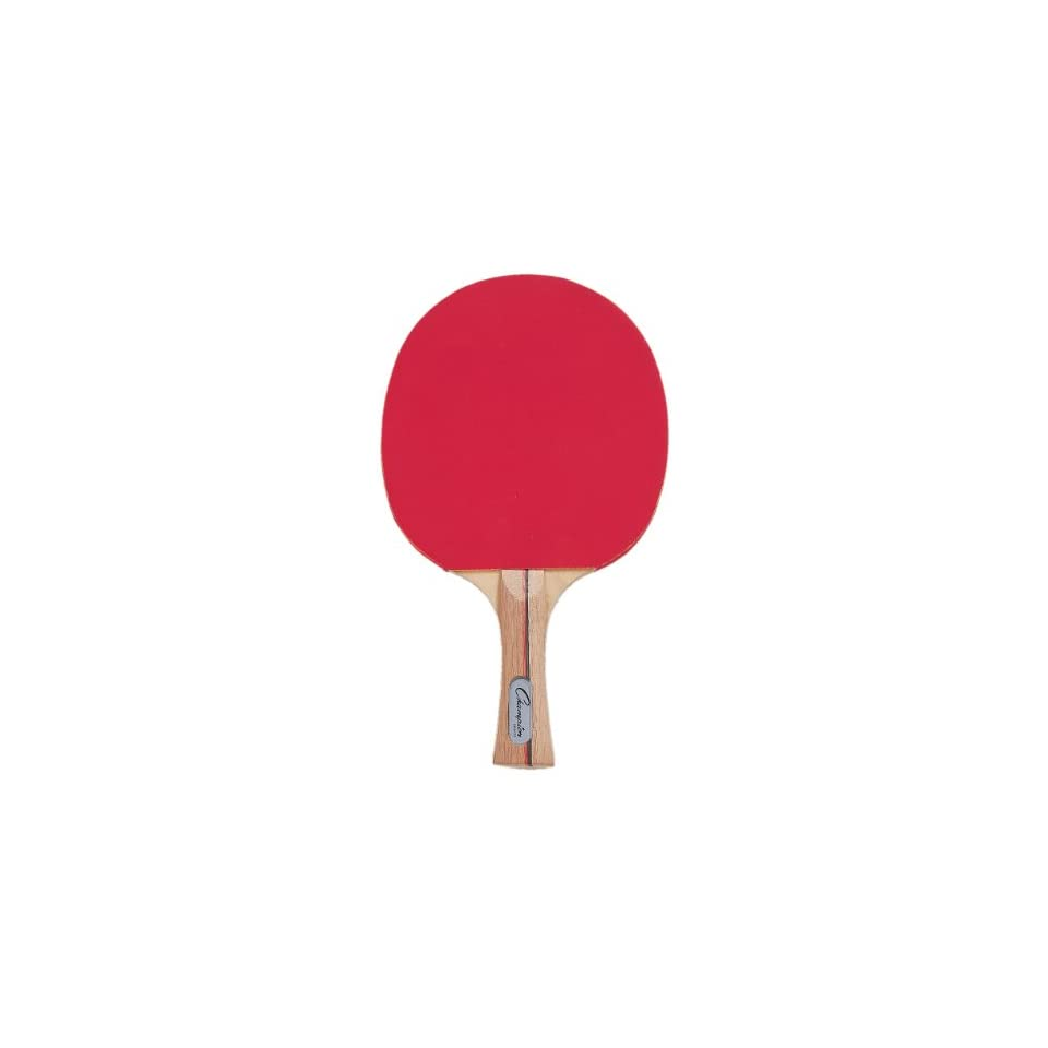 Champion Table Tennis Paddles Rubber Face 7 Ply RED/BLACK WITH WOOD HANDLE 7 PLY