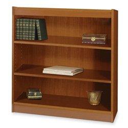 Safco Products 1502MOC Square-Edge Bookcase, 3 Shelf, Medium Oak Safco 3 Shelf Bookcase
