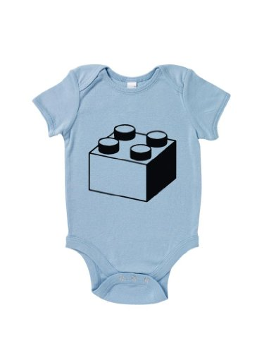 Blue Ivory Lego Block Baby Grow Funny Novelty Slogan Humour Inspired front-1020760