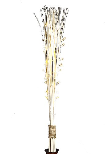 Everlasting Glow Battery Operated Led Bleached Straight Willow Lighted Branches, 48-Inch