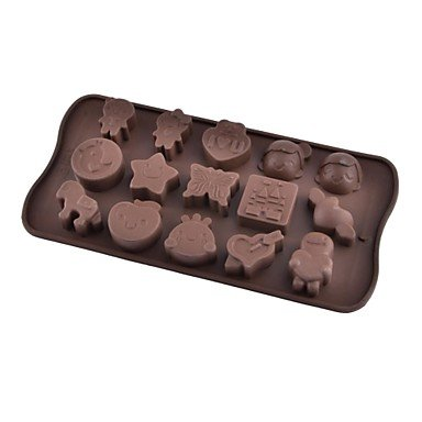 Kitchen boutique convenience and durability 12-Slot Butterfly Shaped Silicone Cake Biscuit Baking Mold Tray Mold Bakeware (Chocolate)