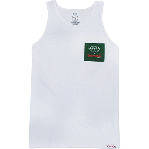 Diamond Supply Co OG Sign White Tank Top - XX-Large (Diamond Supply Co T Shirt Womens compare prices)