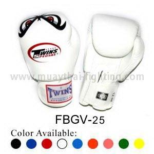 Buy Twins Special Fancy Boxing Gloves No Fear Pattern FBGV-25 by Twins