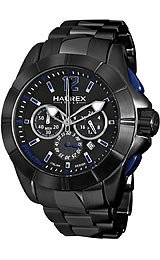 Haurex Italy Aston Chrono Black Dial Men's watch #0N366UNB
