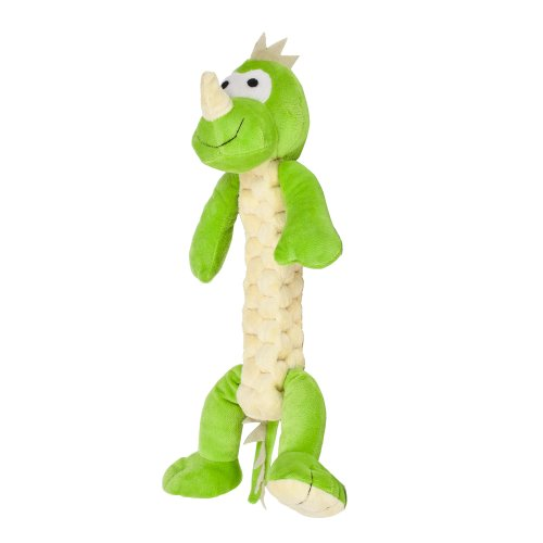 "Blueberry Pet Toys For Dogs Tommy The Fun-Loving Dinosaur - 13"" Tall Plush Dog Toy, Tug Toys, Medium/Large"