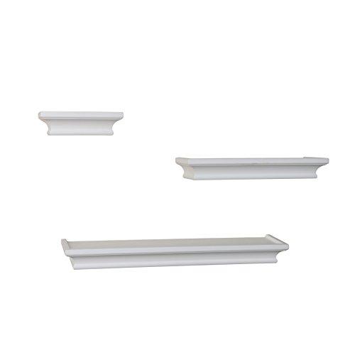 Danya b set of 3 cornice ledge shelves white home garden for Wall shelves and ledges