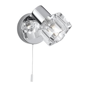 Searchlight 3761CC Triton 1 Light Wall Bracket With Clear Glass Shade In Polished Chrome