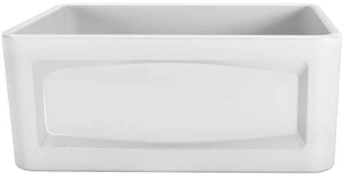 Porcher 35010-24.001 24-Inch Single Bowl Farm Sink, White