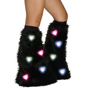LED Rave fuzzy legwarmers
