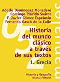 img - for Historia del mundo clasico a traves de sus textos / Classical world History through his writings: Grecia / Greece (El Libro Universitario. Manuales) (Spanish Edition) book / textbook / text book