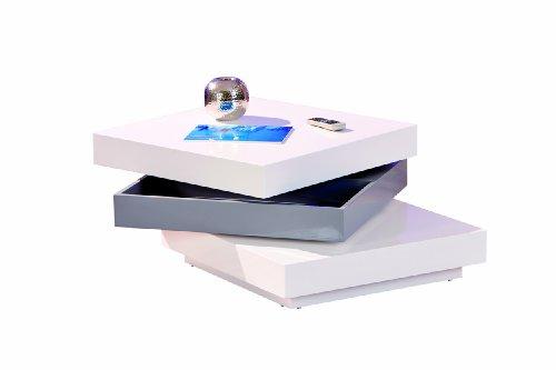 20800925 Couchtisch weiß hochglanz Wohnzimmertisch Wohnzimmer Tisch Design modern 70x70
